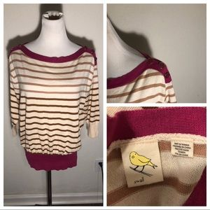 Anthropologie Yellow Bird Sweater Small